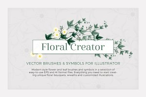 Illustrator Flower & Leaf Brushes