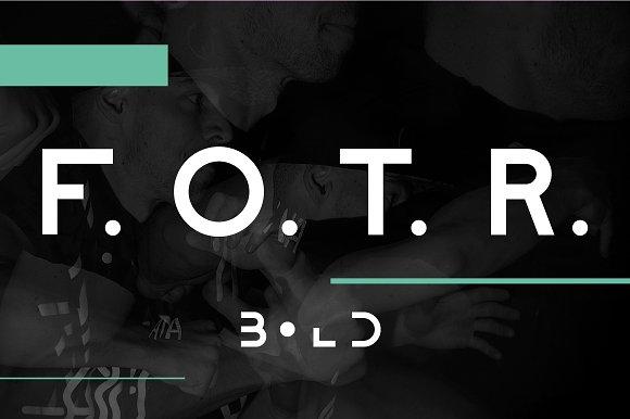 F. O. T. R. bold - Display