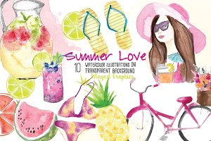 Summer Love Illustration