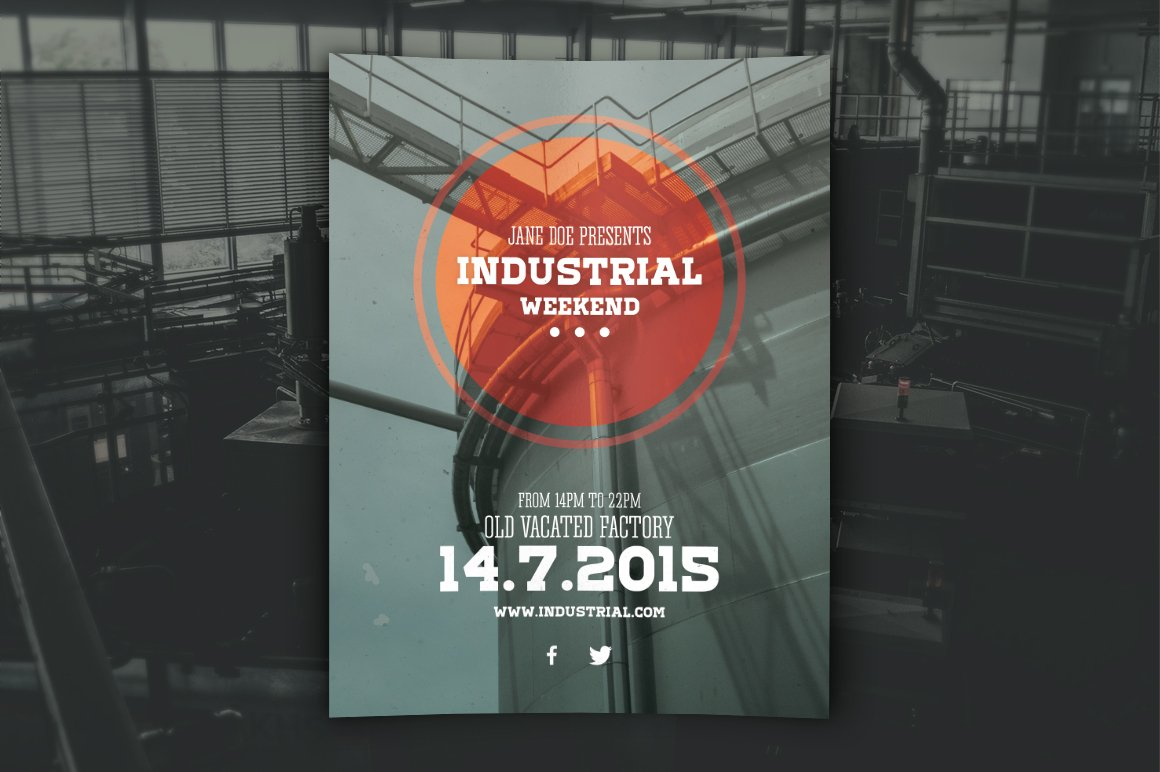 industrial flyer psd template flyer templates creative market