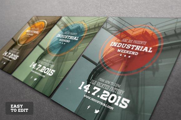 industrial flyer psd template flyer templates creative market