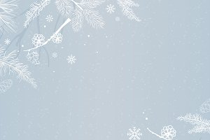 Blue background with winter theme