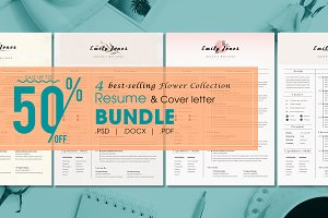 Resume CV Flower Bundle