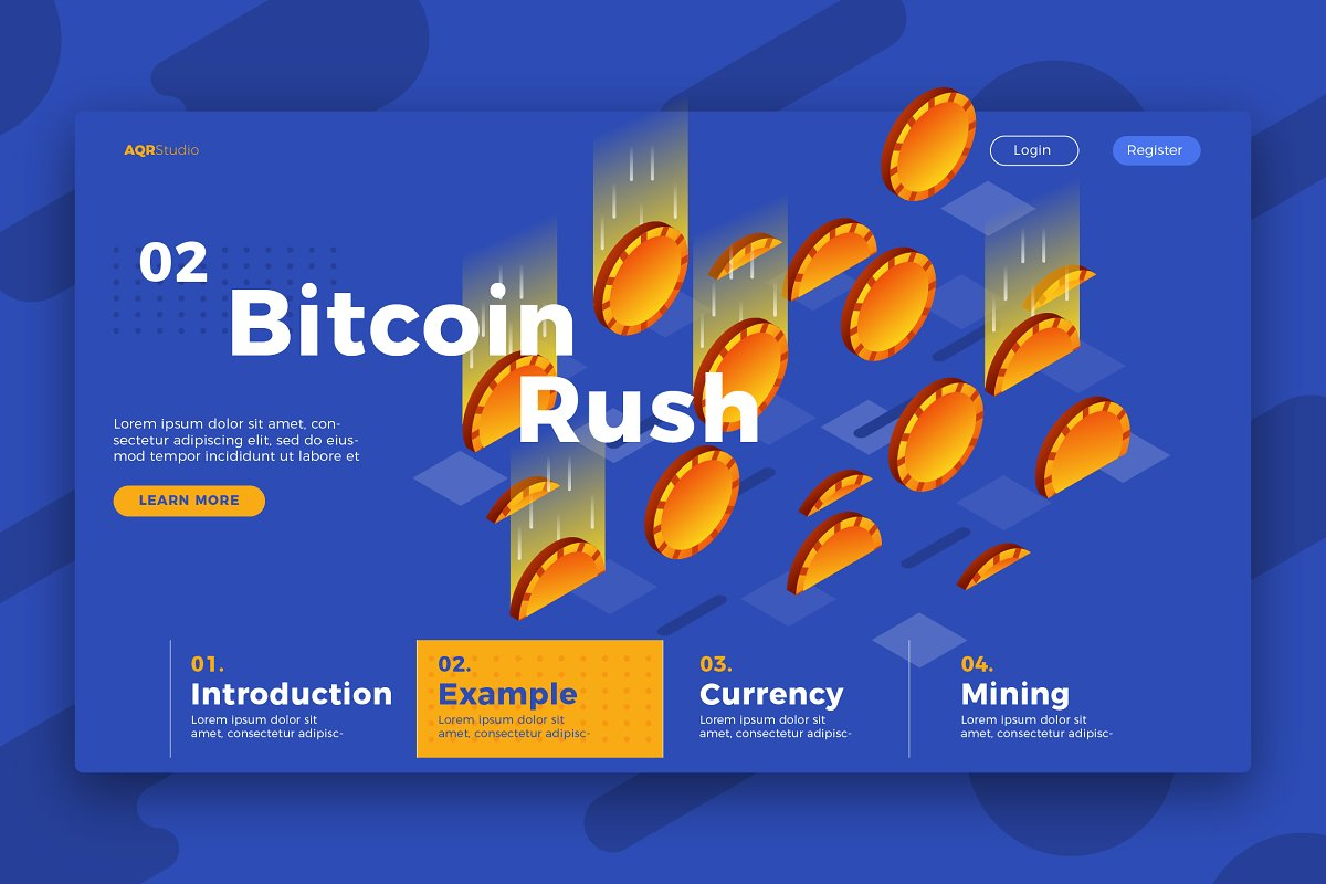 Bitcoin - Banner & Landing Page
