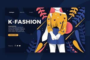 K-Fashion - Banner & Landing Page