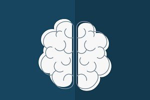 Mental health with brain icon vector
