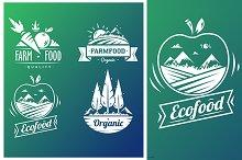 Farm food typography design