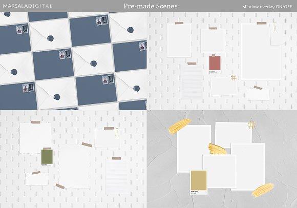 Mood Board Mockup Scene Creator in Scene Creator Mockups - product preview 3