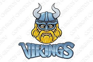 Viking Mascot Warrior Sign Graphic