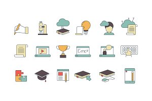 Education online symbols. Special