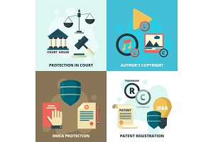 Copyright legal icon. Patient