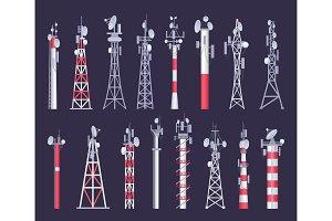 Wireless tower. Tv radio network