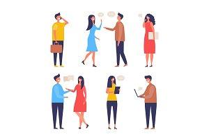 Dialogue people. Communication