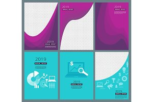 Business brochure covers. Company