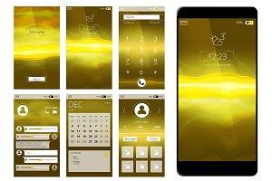 Mobile app ui. Web interface