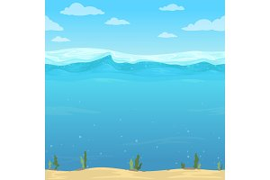Water waves background. Seamless