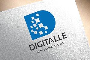Letter D - Digitalle Logo