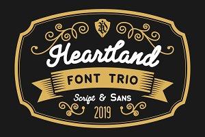 Heartland font trio