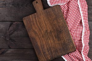 old wooden kitchen cutting board