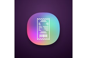 Cash receipt app icon