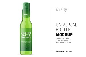 Universal bottle mockup / glass