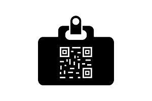QR code identification card icon