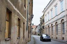 Narrow paved street of Vilnius