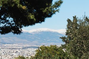Winter Athens.