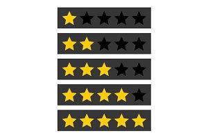 Rating Stars Symbols Set