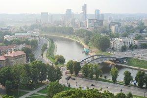 Panoramic Vilnius view, Lithuania