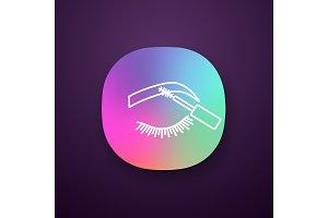 Eyebrows mascara app icon