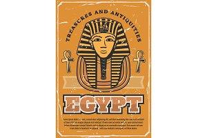 Ancient egyptian pharaoh mask. Egypt
