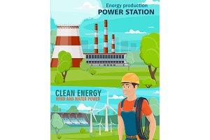 Hydro power plant, wind turbine
