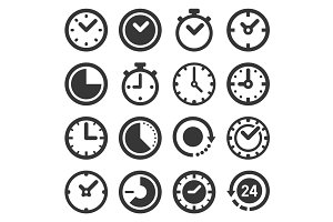 Clocks Icons Set