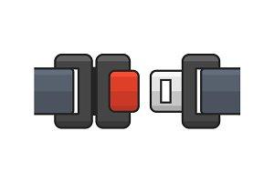 Seat Belt Icon Set