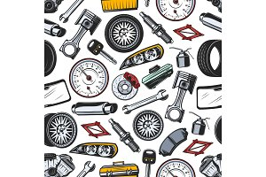 Spare parts seamless pattern