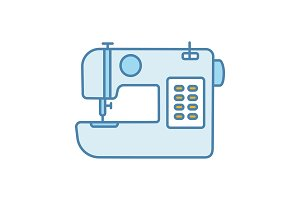 Sewing machine color icon