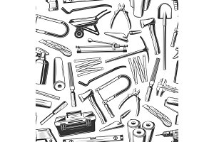 Tools and equipment seamless pattern
