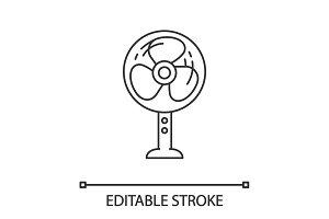 Stand floor fan linear icon