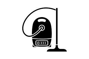 Vacuum cleaner glyph icon