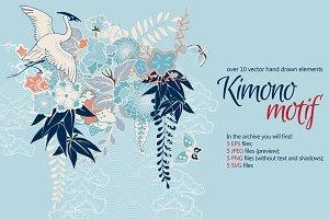 Kimono Patterns Set