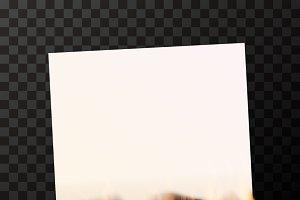 Burning blank sheet of white paper