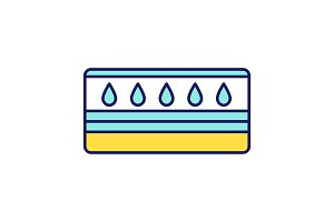 Water mattress color icon