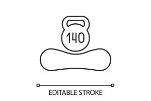 Maximum weight up to 140 kg icon