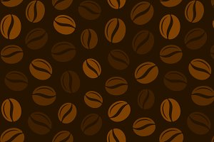 Coffee Grains Seamless Pattern