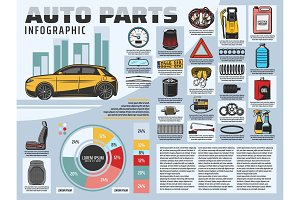 Car repair service infographics