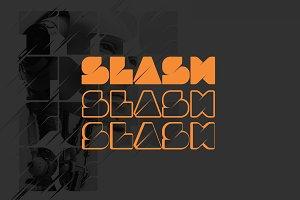 SLASH | Display Font + 3 Styles