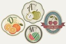 Fruits vintage label collection