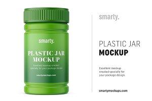 Plastic pharmaceutical jar mockup