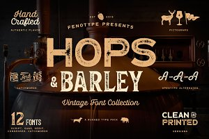 Hops And Barley font Collection